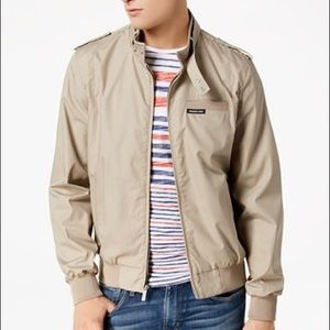 Members only iconic racer jacket in tan